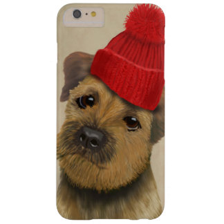 Border Terrier with Red Bobble Hat Barely There iPhone 6 Plus Case