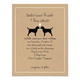 Border Terriers Wedding Invitation
