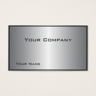 Bordered Silver Shine Corporate  Business Card