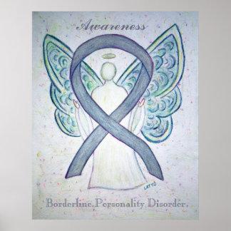 Borderline Personality Disorder Awareness Ribbon Poster