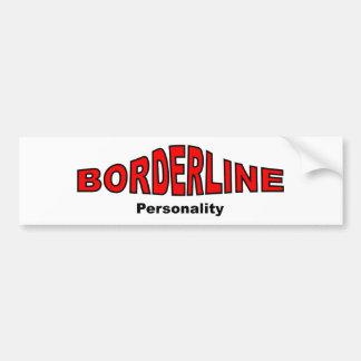 Borderline Personality Disorder Car Bumper Sticker