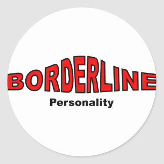 Borderline Personality Disorder Classic Round Sticker