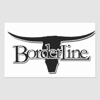 Borderline Rectangular Sticker