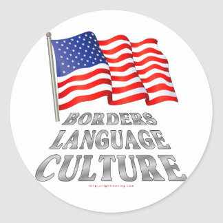 Borders, Language, Culture Classic Round Sticker