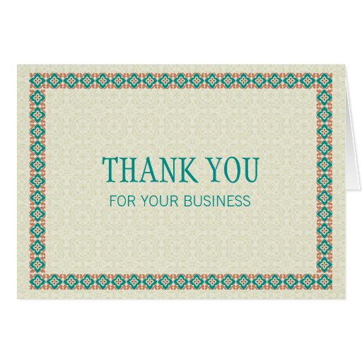 Borders & Patterns 3 Thank You For Your Business Cards