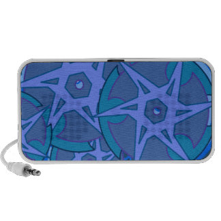 Bordes azules laptop altavoces