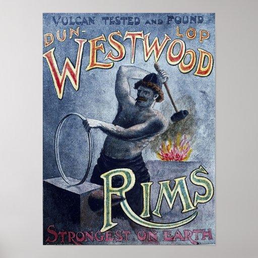 Bordes de Westwood del vintage de la publicidad de Poster