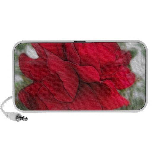 Bordes del rosa rojo iPod altavoz
