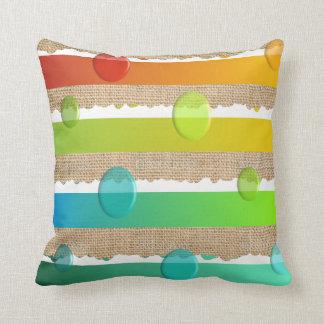 Bordes dentados de la almohada minimalista moderna cojín decorativo
