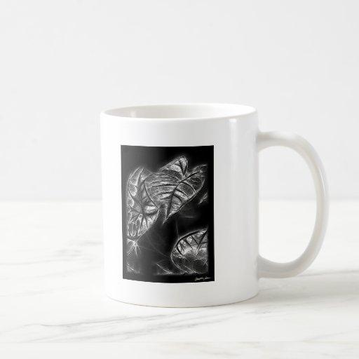 Bordes diseñados de Solarized de las hojas 1 Tazas De Café
