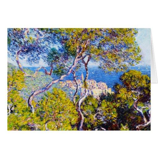 Bordighera, Claude Monet 1884 fresco, viejo, amo, Felicitación