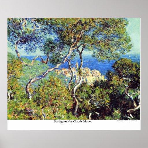 Bordighera de Claude Monet Poster
