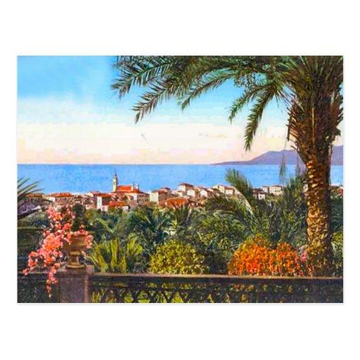 Bordighera, Italian Riviera, Postcard