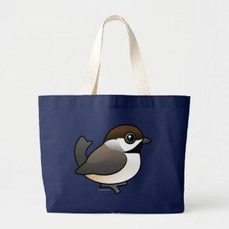 Boreal Chickadee Tote Bags