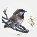 Boreal chickadee stickers
