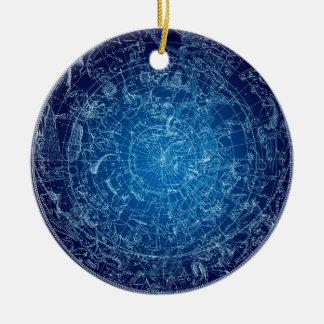 Boreal Hemysphere Sky constellations Ceramic Ornament