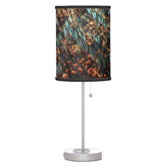 Borealis de cobre lámpara de mesa
