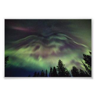 Borealis de la aurora en Laponia finlandesa Fotografía