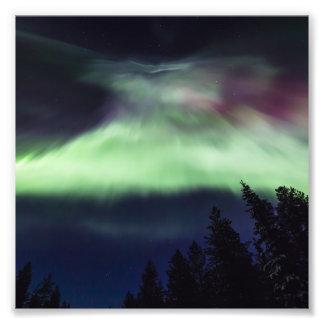 Borealis de la aurora en Laponia finlandesa Fotografías