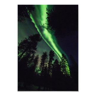 """Borealis de la aurora en Laponia finlandesa Invitación 3.5"""" X 5"""""""