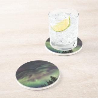 Borealis de la aurora en Laponia finlandesa Posavasos Para Bebidas