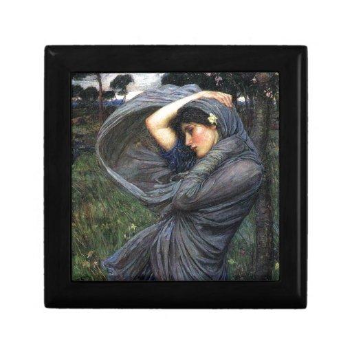 Boreas del Pre-Raphaelite del Waterhouse de Juan Joyero Cuadrado Pequeño