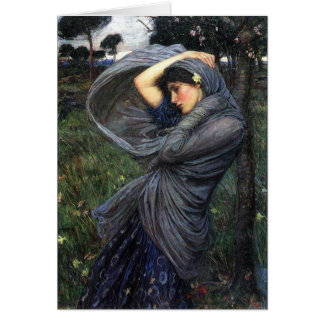 Boreas del Pre-Raphaelite del Waterhouse de Juan Felicitación