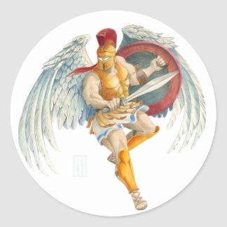 Boreas, Greek God of the North Wind and Winter Classic Round Sticker
