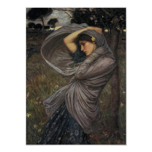 Boreas - John William Waterhouse Posters