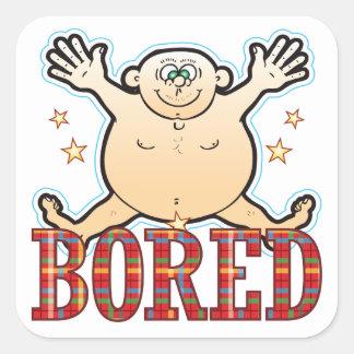 Bored Fat Man Square Sticker