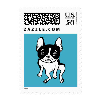 Bored Frenchie Postage