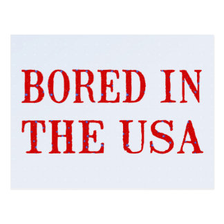 Bored in the USA Post Card