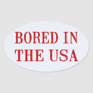 Bored in the USA Oval Stickers
