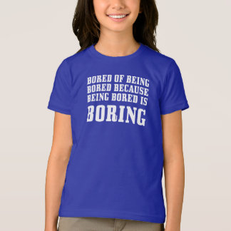 Bored of Being Bored Girls' Basic American Apparel T-Shirt