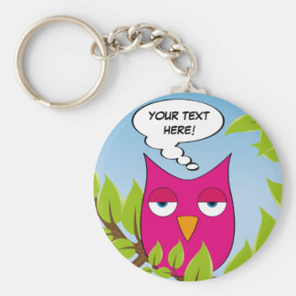 Bored owl - So what?! - multiple colors Keychains