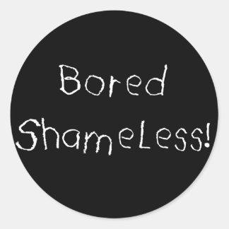 bored shameless sticker