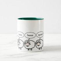 Bored Sheep Two-Tone Coffee Mug