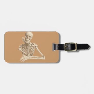 Bored Skeleton Tags For Luggage