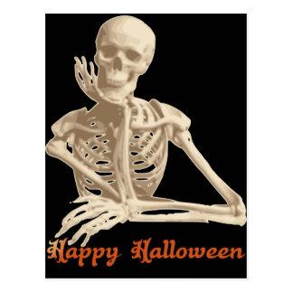 Bored Skeleton Postcard