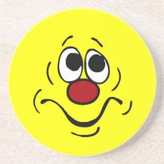Bored Smiley Face Grumpey Beverage Coaster