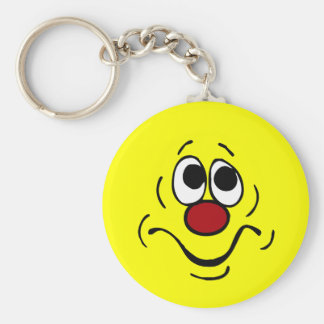 Bored Smiley Face Grumpey Keychain