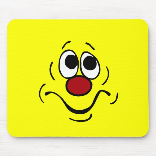Bored Smiley Face Grumpey Mouse Pad