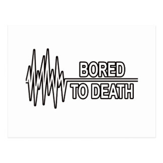 BORED TO DEATH POSTCARD