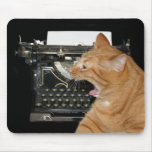 Bored writer mouse pad