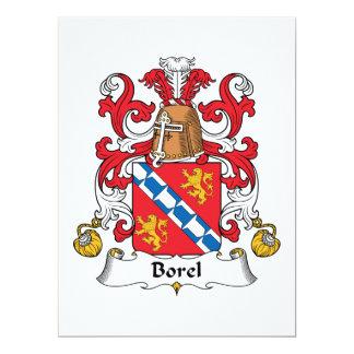 Borel Family Crest 6.5x8.75 Paper Invitation Card