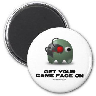 Borg (Retro Avatar Game Face) Magnets