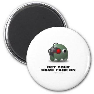 Borg (Retro Avatar Game Face) Refrigerator Magnet