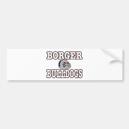 Borger Bulldogs! Bumper Sticker