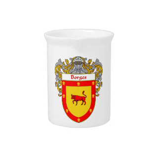 Borges Coat of Arms/Family Crest Pitcher