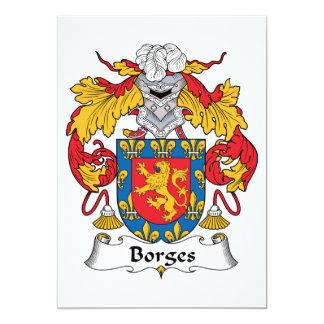 Borges Family Crest Custom Invites
